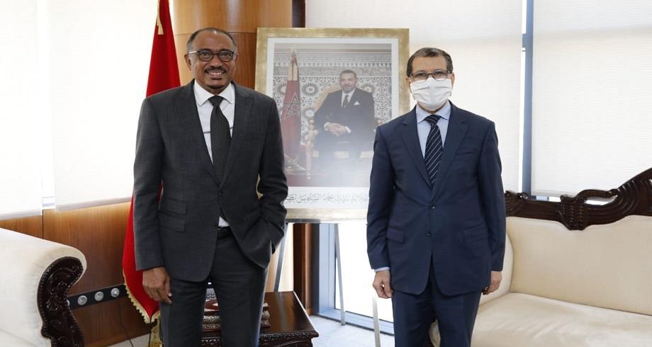 Le chef du gouvernement reçoit l'Envoyé spécial de l'UA auprès de l'Agence africaine du médicament