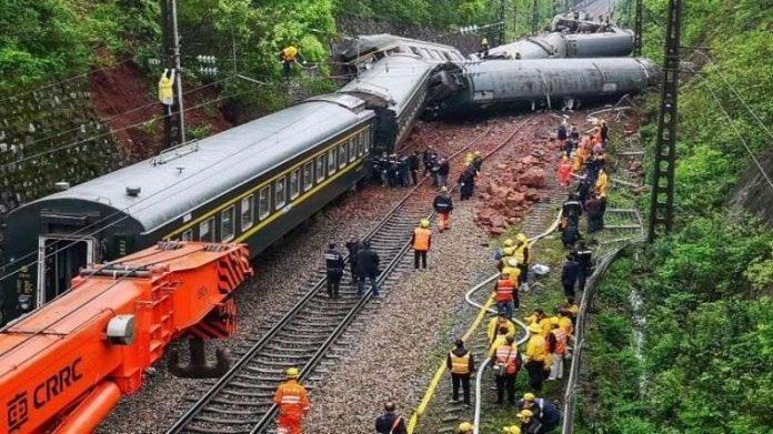 تسعة قتلى في حادث سككي شمال غرب الصين