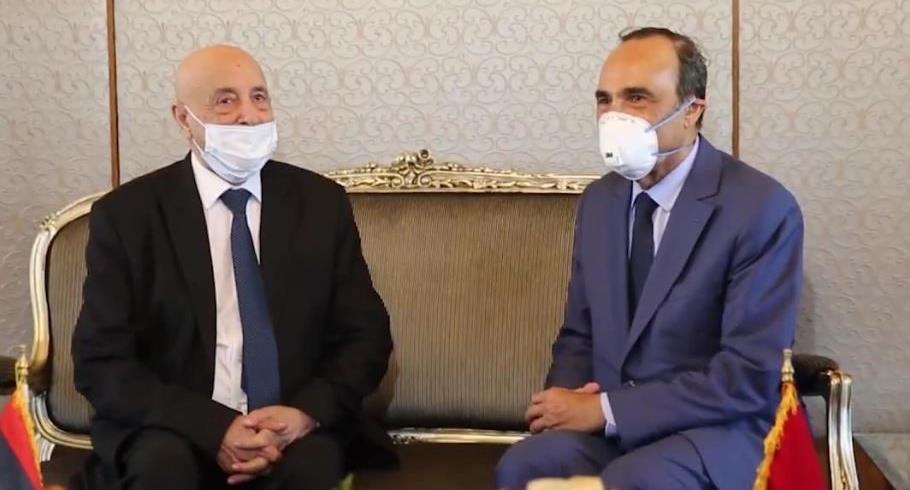 عقيلة صالح يثمن دور المغرب بقيادة الملك محمد السادس في إيجاد حل للأزمة الليبية