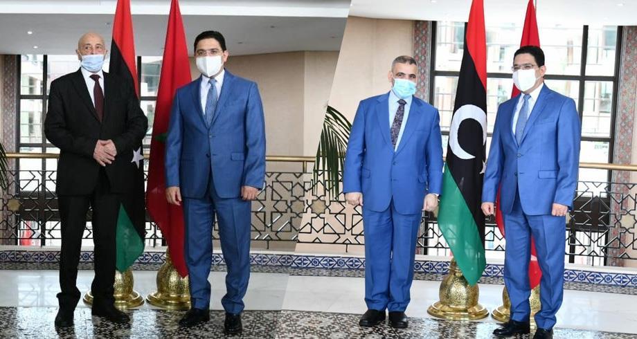 Libye: Bourita s'entretient avec Aguila Salah et Khaled Al Mechri