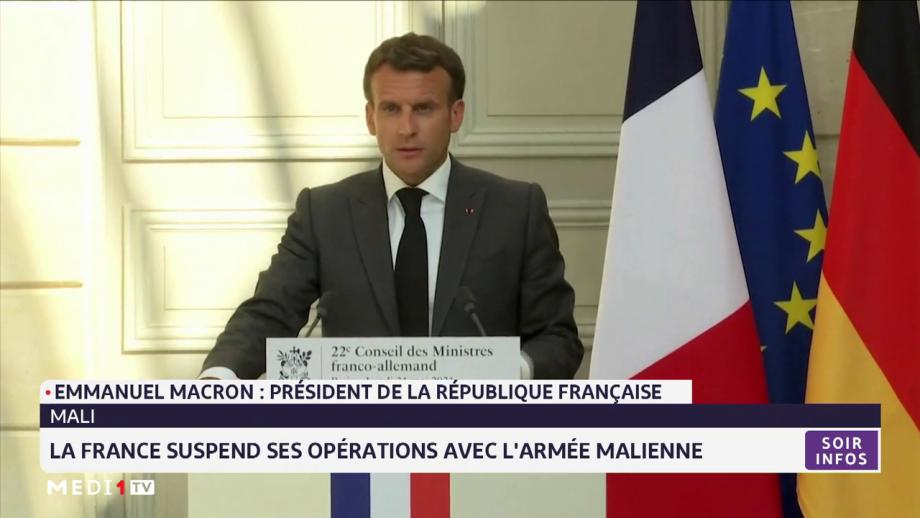 Mali: la France suspend ses opérations avec l'armée malienne