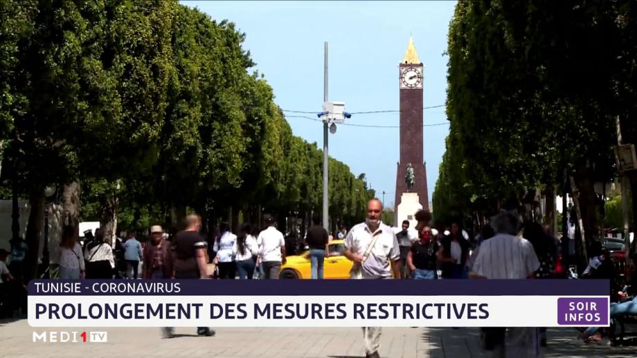Tunisie: prolongement des mesures restrictives
