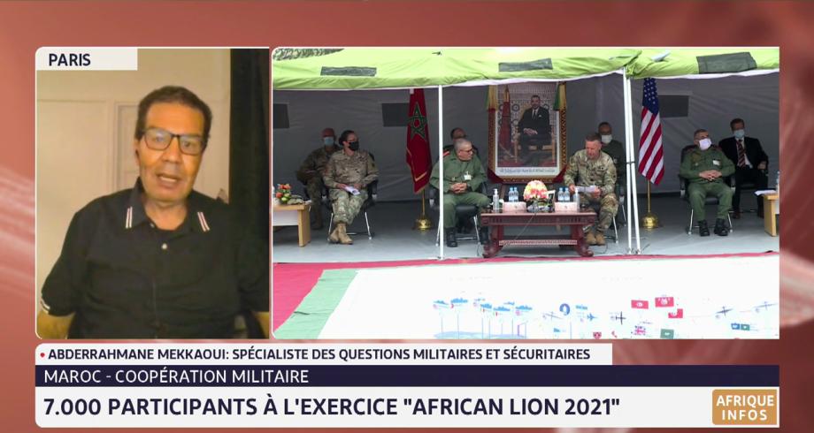 """Coopération militaire: 7.000 participants à l'exercice """"African Lion 2021"""". Lecture de Abderrahmane Mekkaoui"""