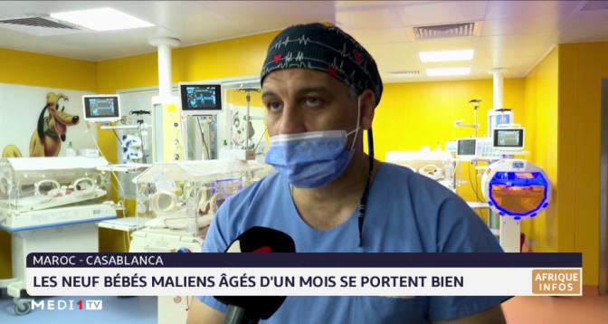 Maroc: les neuf bébés maliens âgés d'un mois se portent bien
