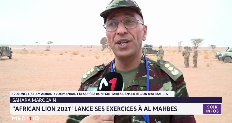 """L'exerce """"African Lion 2021"""" se poursuit à Al Mahbes. Le point avec le Colonel Hicham Amrani"""