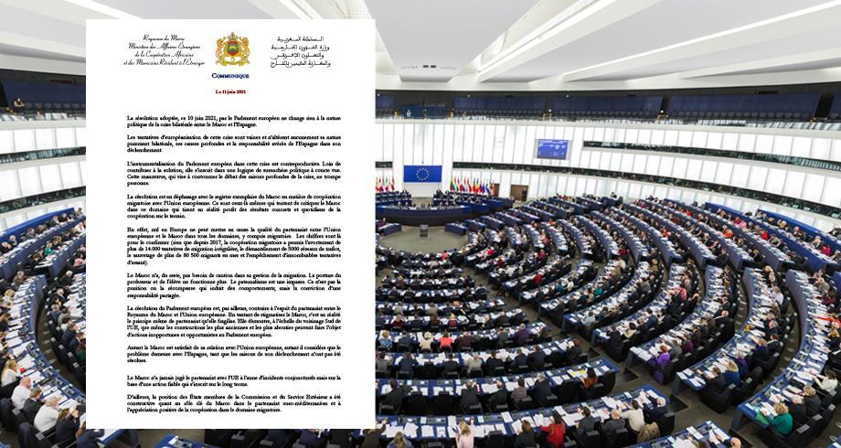 La résolution du Parlement européen ne change rien à la nature politique de la crise bilatérale entre le Maroc et l'Espagne (MAE)
