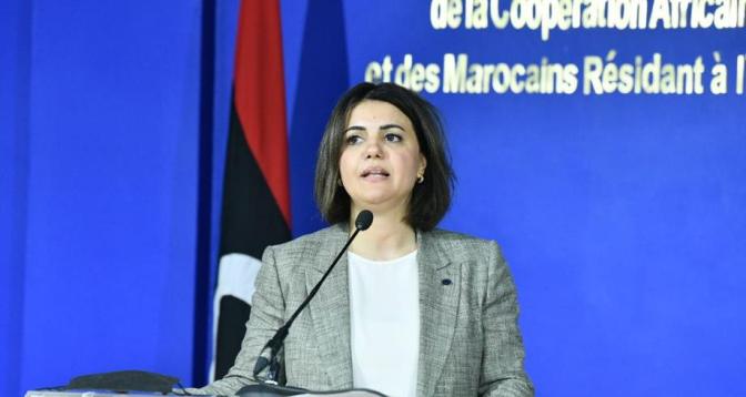 وزيرة الخارجية الليبية : الشراكة الاستراتيجية بين المغرب وليبيا مهمة للمنطقة بأكملها