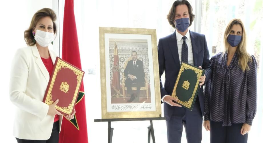 الأميرة للا زينب تستقبل ماركو أزران المدير العام لمجموعة أركسترا المغرب بالرباط