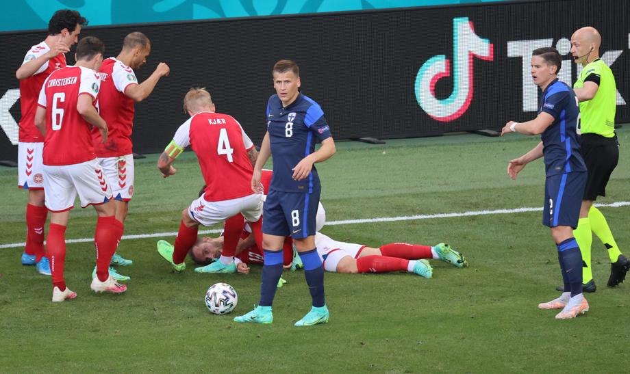 Euro: malaise du Danois Christian Eriksen, match contre la Finlande interrompu