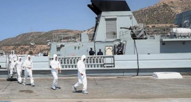 """""""الأسد الإفريقي 2021"""".. عملية تطهير بالميناء العسكري لأكادير لتقييم تفاعلية وحدة الإنقاذ والإغاثة التابعة للقوات المسلحة الملكية"""