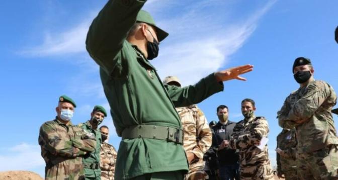 """""""الأسد الإفريقي 2021"""".. وفد عسكري مغربي أمريكي هام يزور المستشفى الطبي الجراحي الميداني قرب تافراوت"""