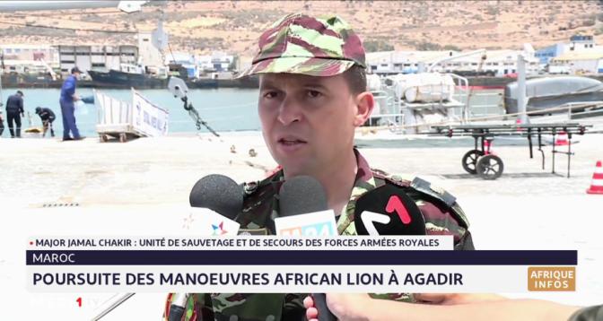 """Maroc: poursuite des manœuvres """"African Lion"""" à Agadir"""