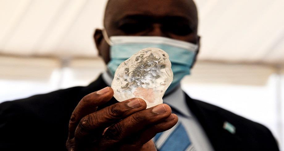 Découverte d'un gigantesque diamant au Botswana