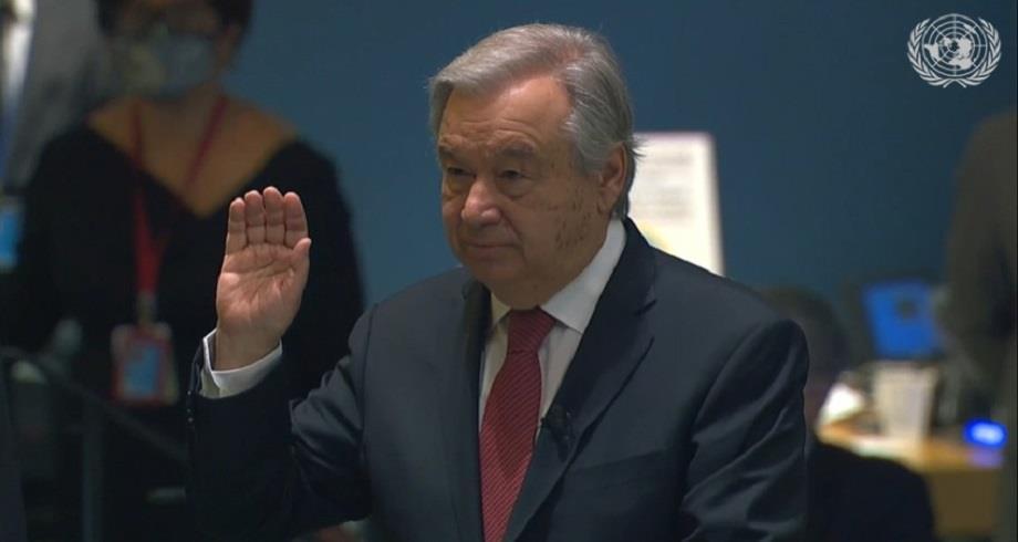 Antonio Guterres officiellement reconduit pour un second mandat de SG de l'ONU