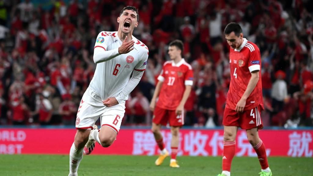 كأس أمم أوروبا .. الدنمارك تحقق فوزا مثيرا على روسيا و ترافق ببلجيكا الى دور 16