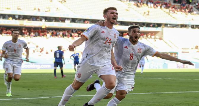 Euro: l'Espagne se qualifie en écrasant 5-0 la Slovaquie