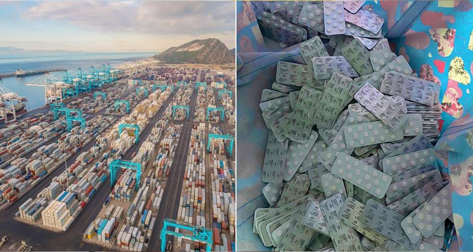 ميناء طنجة المتوسط .. إحباط محاولة تهريب 6000 قرص طبي مخدر