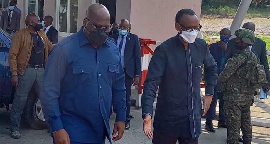 Les présidents Kagame et Tshisekedi en visite transfrontalière au Rwanda et en RD Congo