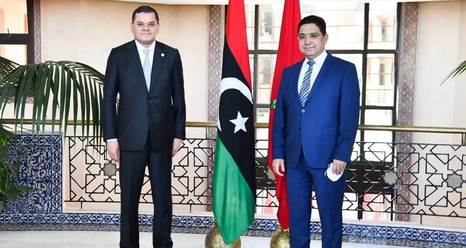 Maroc- Libye: Nasser Bourita reçoit le chef du gouvernement libyen d'unité nationale, Abdulhamid Aldabaiba