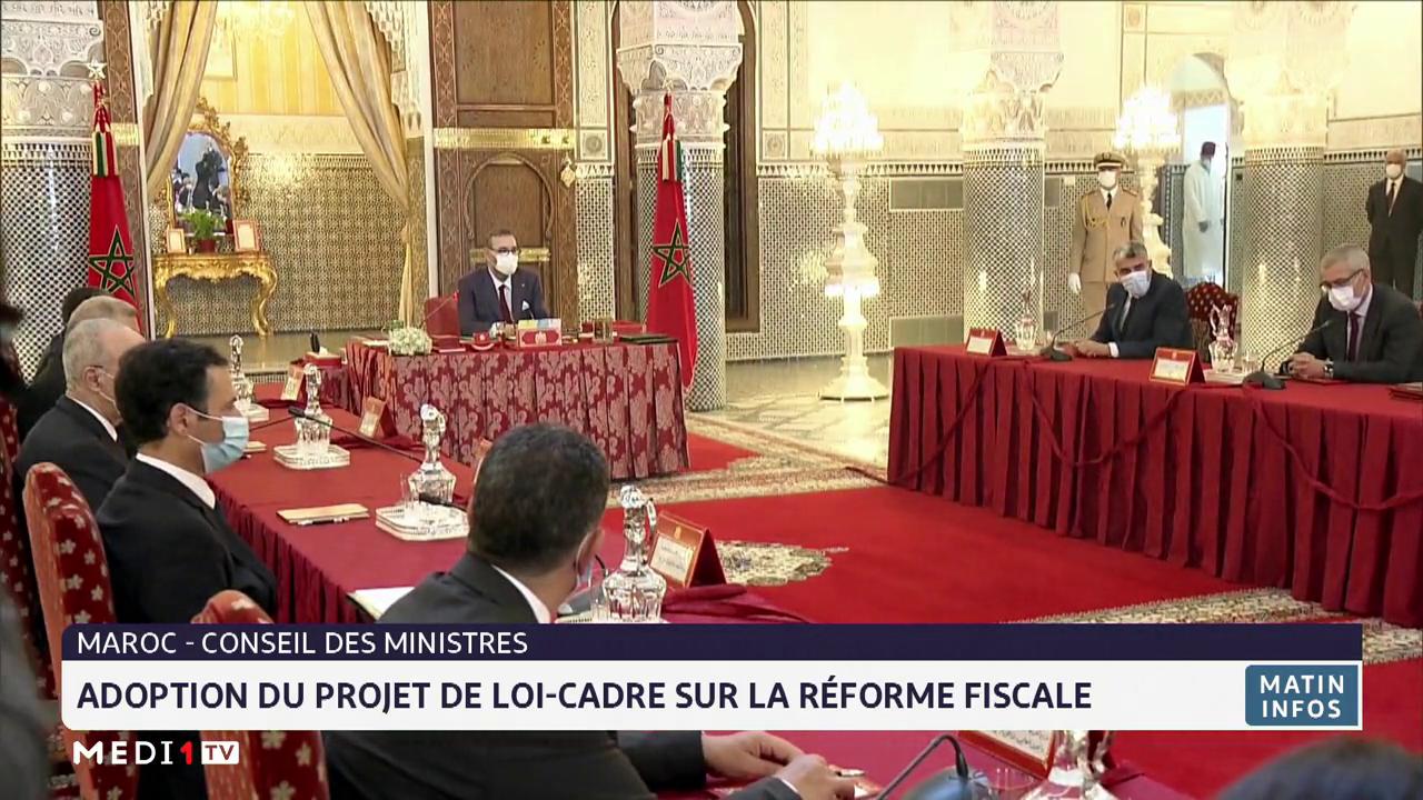 Conseil des ministres: adoption du projet de loi-cadre sur la réforme fiscale
