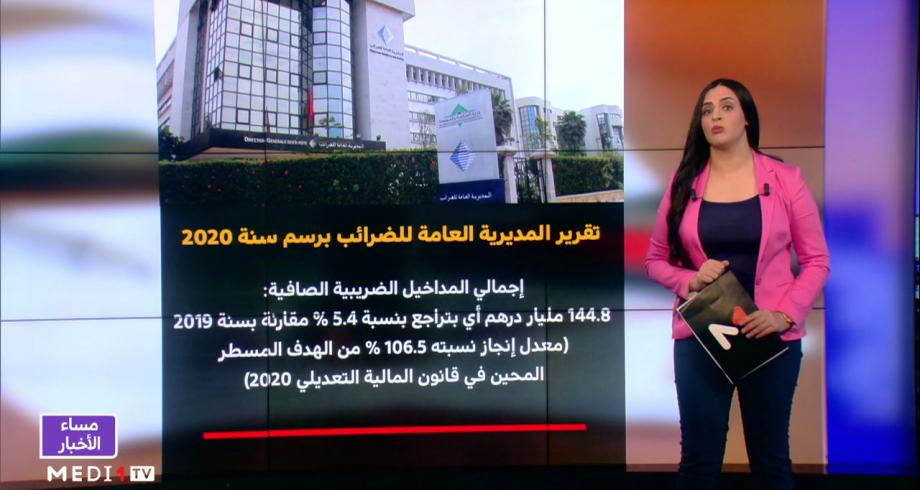 شاشة تفاعلية .. تفاصيل تقرير المديرية العامة للضرائب برسم سنة 2020