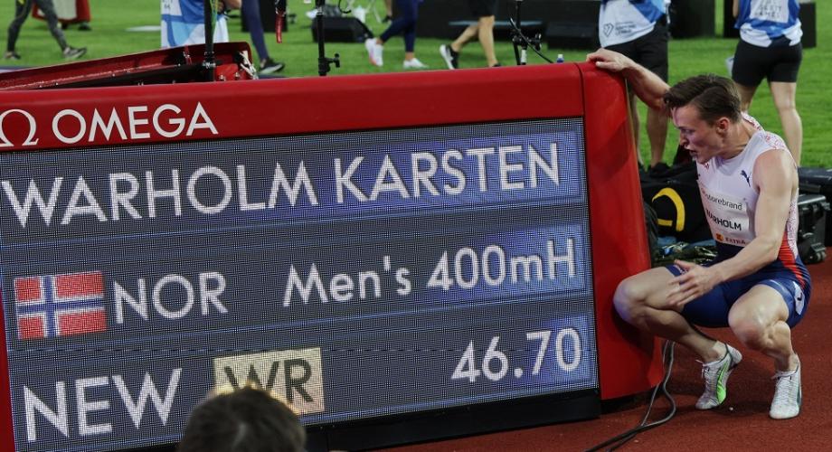 الدوري الماسي .. النرويجي فارهولم يحطم الرقم القياسي العالمي لسباق 400 متر حواجز