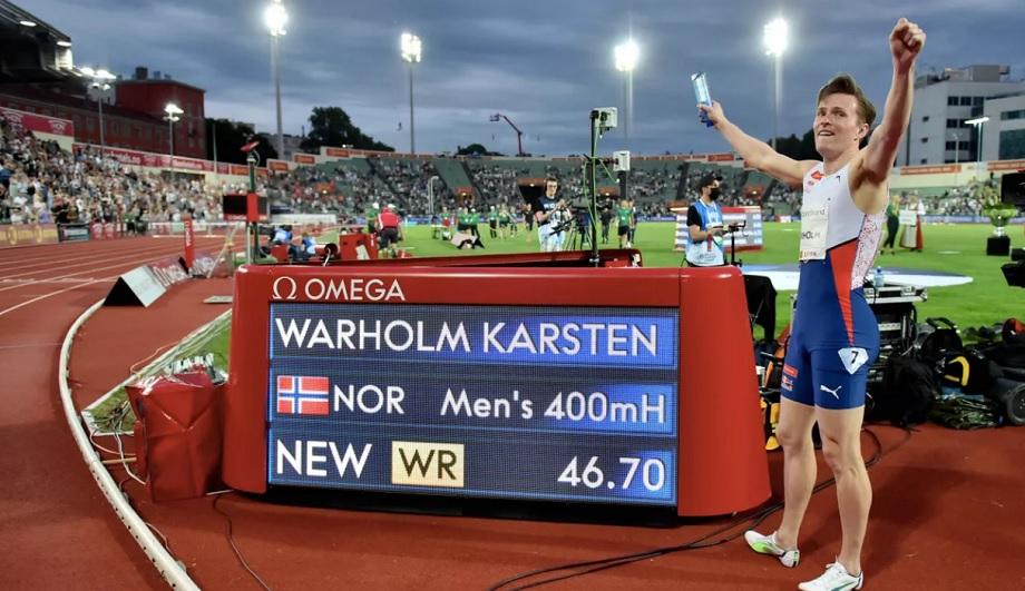 Le Norvégien Karsten Warholm bat le record du monde du 400 m haies