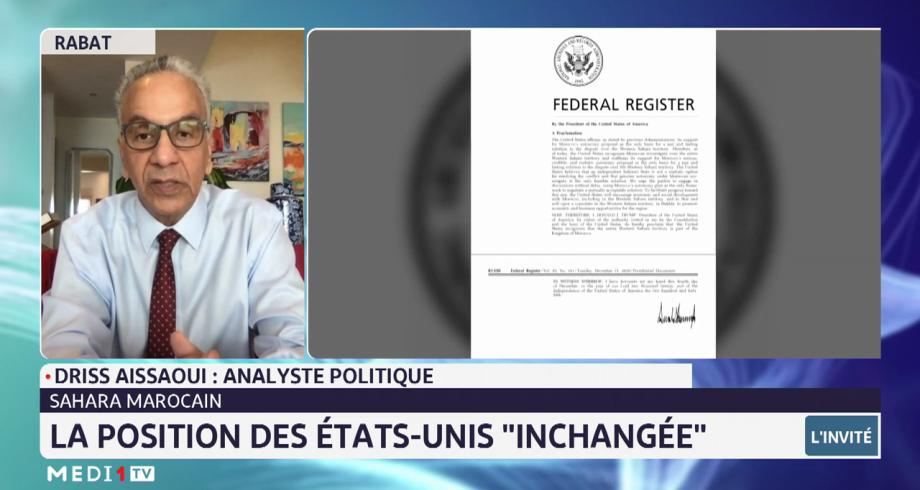 Les USA confirment leur position sur Sahara marocain  Analyse Driss Aissaoui