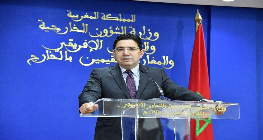 Bourita s'entretient avec le président du Bureau de la Commission des relations extérieures de l'Assemblée nationale mauritanienne