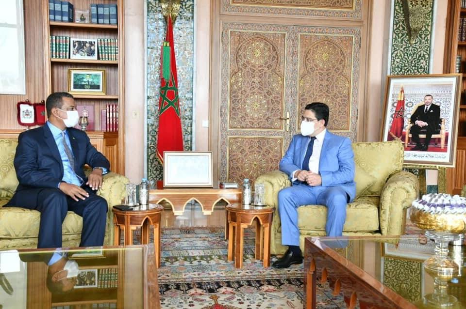 بوريطة يتباحث مع رئيس مكتب لجنة العلاقات الخارجية بالجمعية الوطنية الموريتانية