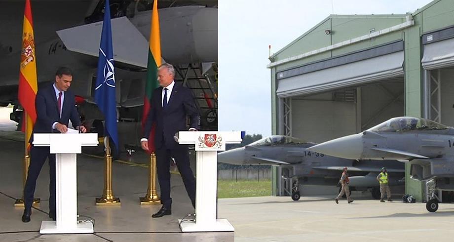 فيديو .. إنذار يوقف مؤتمرا صحفيا مباشرا لرئيس الوزراء الإسباني والرئيس الليتواني