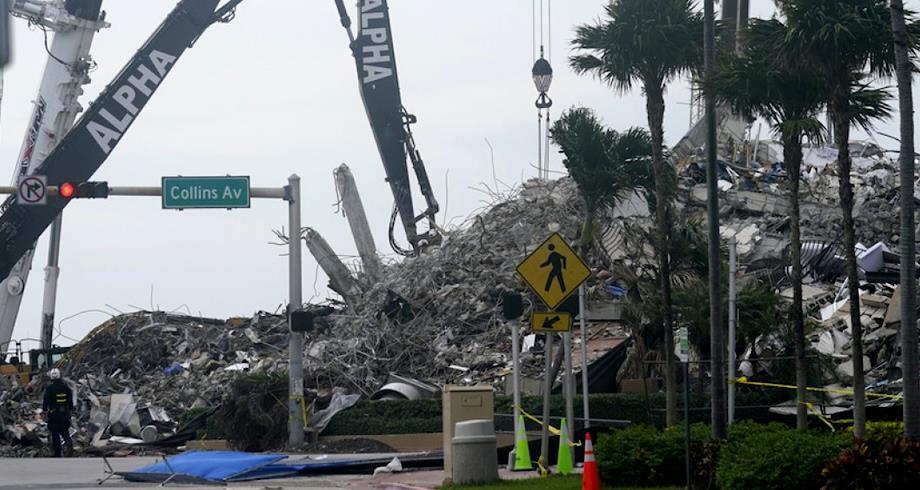 انهيار مبنى في فلوريدا .. حصيلة الضحايا تصل إلى 64 شخصا على الأقل