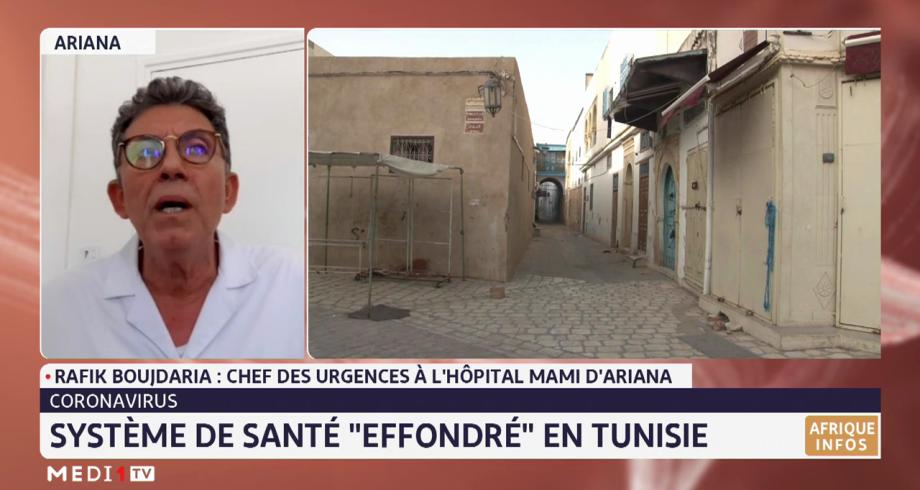 """Coronavirus: système de santé """"effondré"""" en Tunisie"""