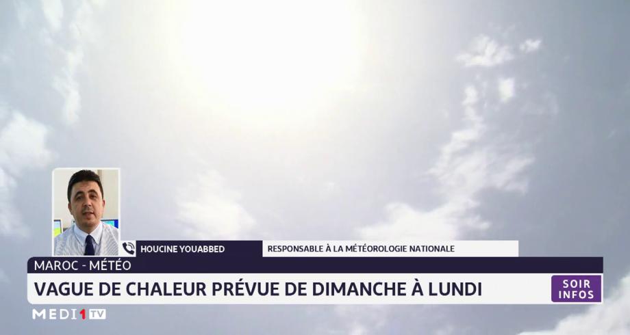 Maroc-Météo: vague de chaleur prévue de dimanche à lundi