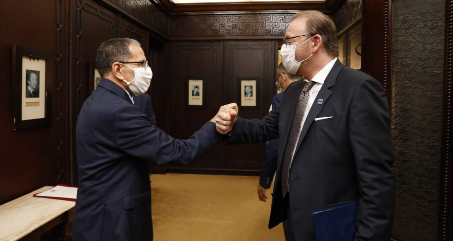رئيس الحكومة يجري مباحثات مع رئيس الجمعية البرلمانية لمجلس أوروبا