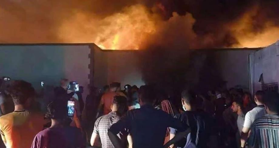 """مصرع 41 شخصا وإصابة العشرات في حريق بمركز لعزل المصابين بـ"""" كورونا """" في العراق"""