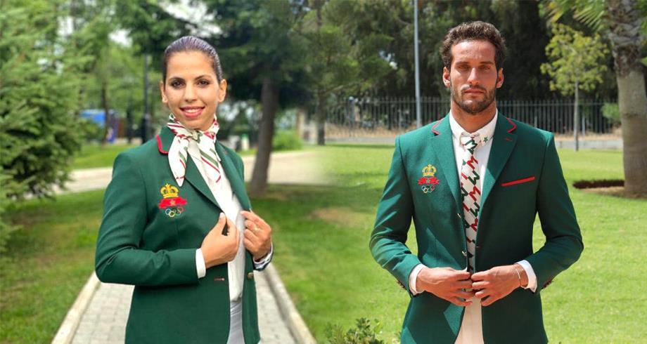 أولمبياد طوكيو ..البطلان أميمة بلحبيب و رمزي بوخيام ينالان شرف حمل العلم الوطني المغربي