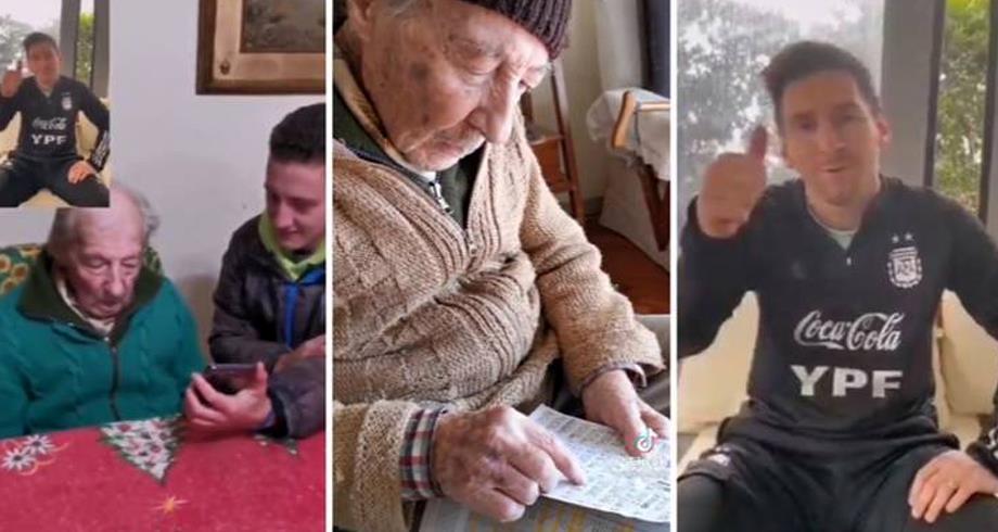 فيديو .. بادرة إنسانية من ميسي تجاه رجل مُسن