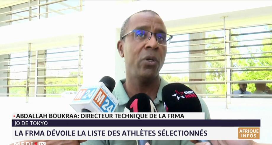 Jeux olympiques de Tokyo: la FRMA dévoile la liste des athlètes sélectionnés