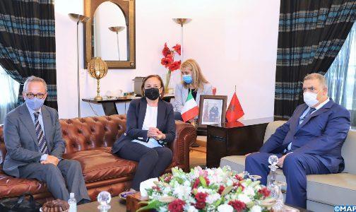 جلسة عمل بين لفتيت ووزيرة الداخلية الإيطالية