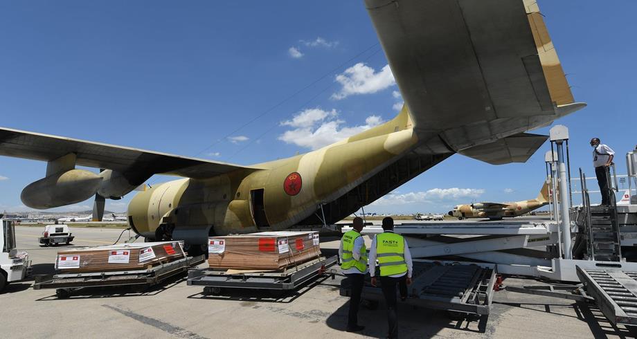 تواصل الجسر الجوي مع تونس لنقل المساعدة الطبية العاجلة التي أمر الملك محمد السادس بإرسالها