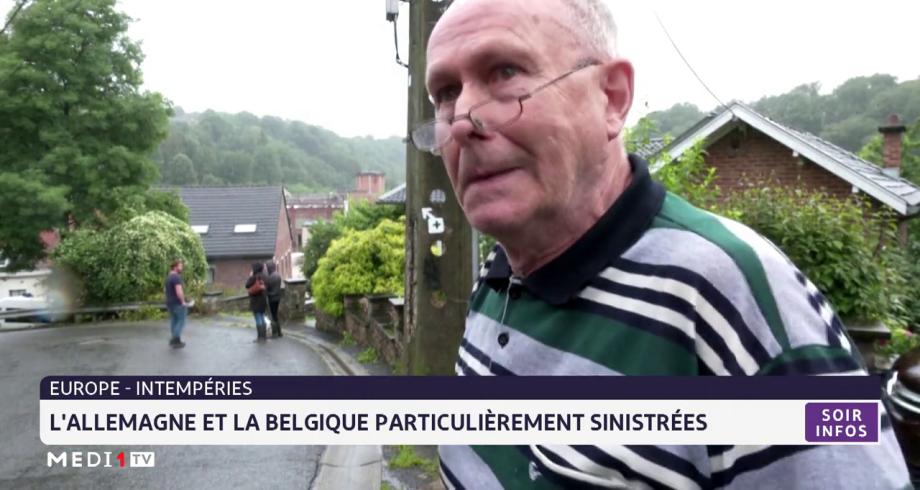 Intempéries: l'Allemagne et la Belgique particulièrement sinistrés