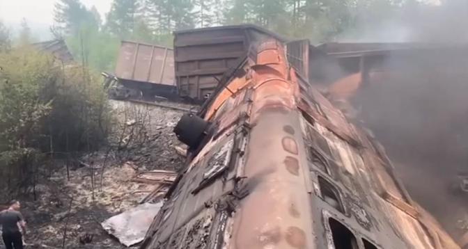 اصطدام قطارين للشحن في منطقة أمور بروسيا