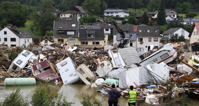 خمسة مليارات يورو قيمة خسائر ألمانيا المؤمن عليها جراء الفيضانات