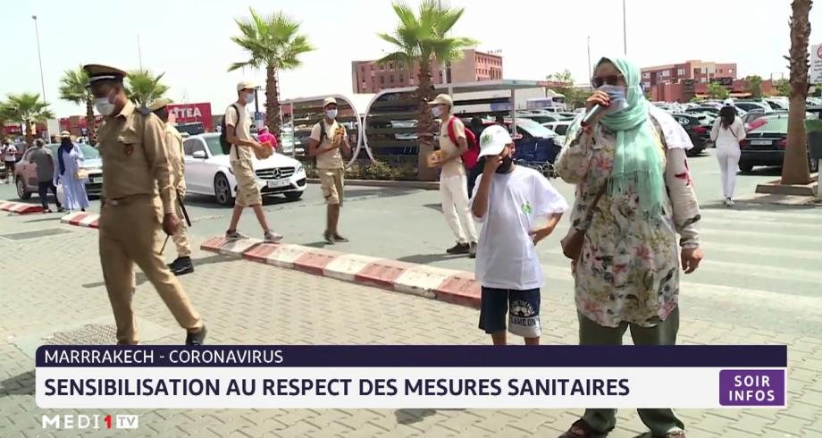 Covid-19: sensibilisation au respect des mesures sanitaires à Marrakech