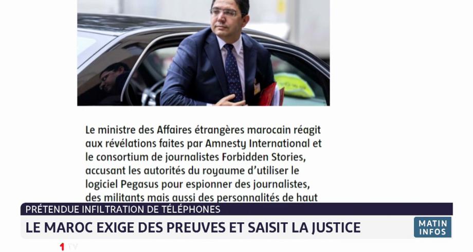 Prétendue infiltration des téléphones: le Maroc exige des preuves et saisit la justice