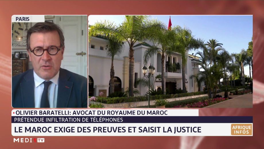 Prétendue infiltration des appareils téléphoniques: entretien exclusif avec l'avocat du Maroc, Olivier Baratelli