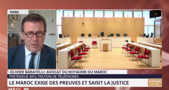 Olivier Baratelli: le Maroc n'a jamais eu de contact commercial avec NSO