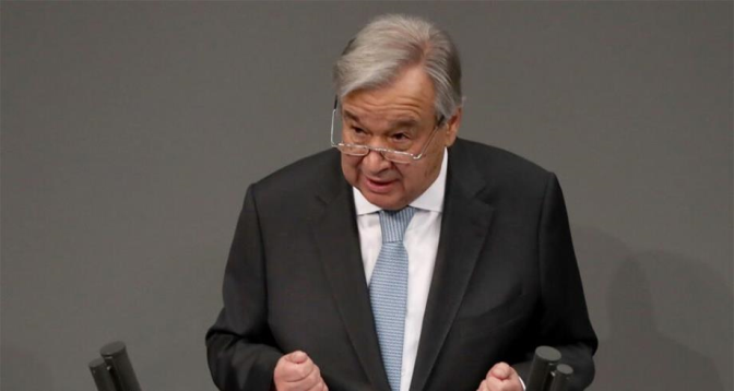 تغير المناخ .. غوتيريش يطالب مجموعة العشرين بالالتزام بتحقيق هدف 1.5 درجة مئوية