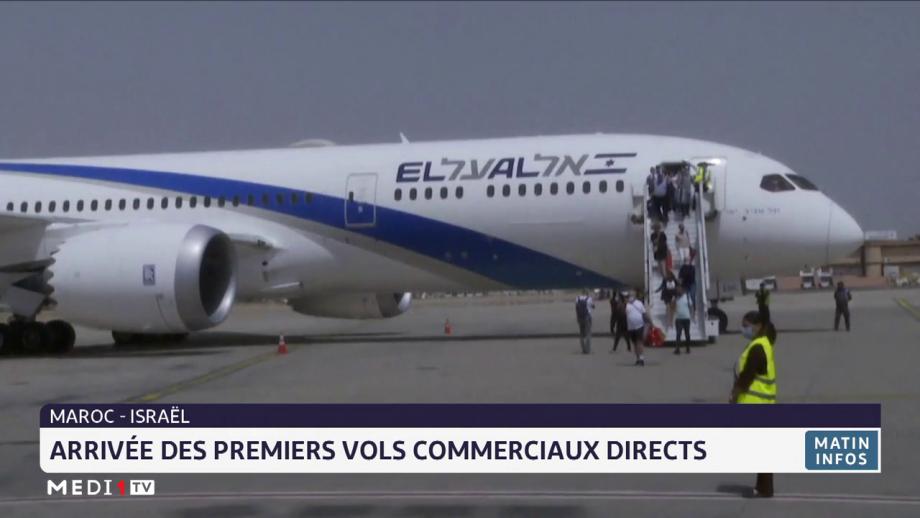 Maroc-Israël: arrivée des premiers vols commerciaux directs